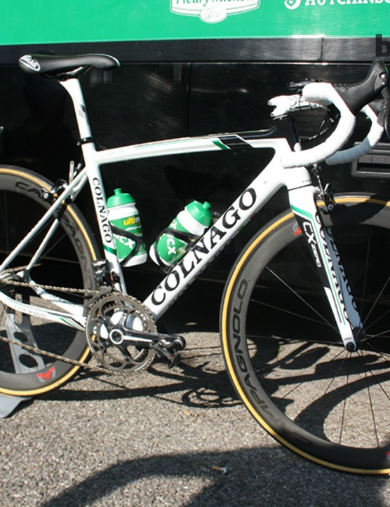 The Colnago CX Zero – the Italian frame-builders' first Classics-specific carbon frame. Those Campgnolo 80th anniversary wheels are just for show