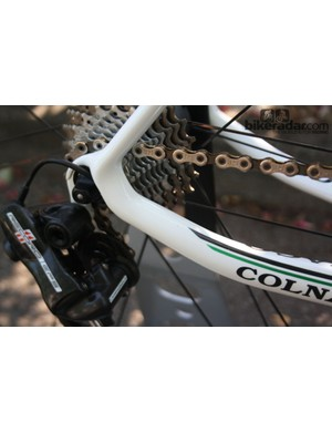 The chainstays have been given broader diameters and made curvy to boost the frame's vibration damping properties