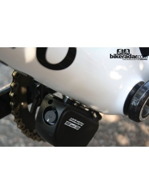The frame is compatible with both electronic and mechanical groupsets