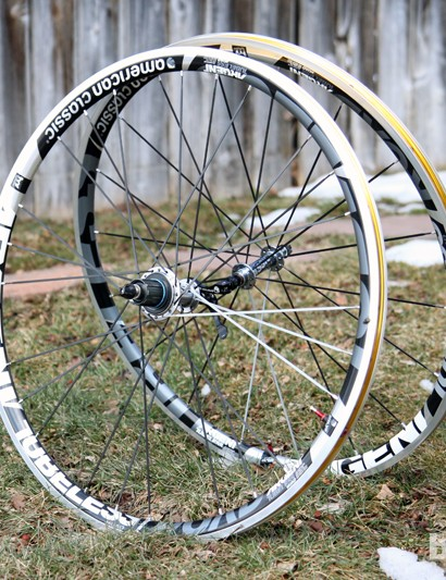 American Classic's Argent Road Tubeless road wheels offer up easy tubeless setup plus a fantastic ride quality. With a bit of sealant installed, you rarely have to top off the pressure, either