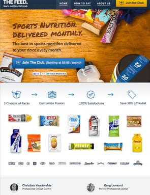 The Feed is a new delivery service for bars, gels, hydration mixes, and other energy foods