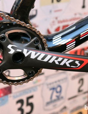 New Specialized FACT carbon cranks can be used with one or two chainrings and incorporate an integrated spider to reduce weight