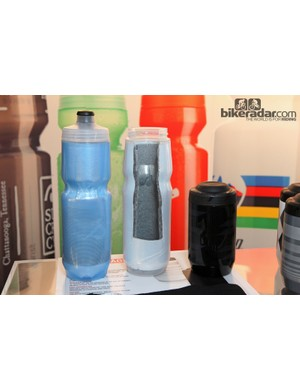 Specialized's new Purist Insulated water bottles supposedly keep liquids cool (or warm) 20 percent longer than other insulated bottles currently on the market. Other features include the taste-free Purist silica coating, the notably easy-to-squeeze body, and Specialized's excellent MoFlo and Watergate tops