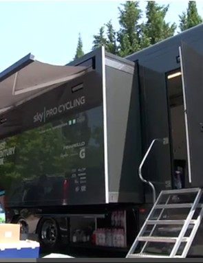 Inside the Team Sky mobile workshop