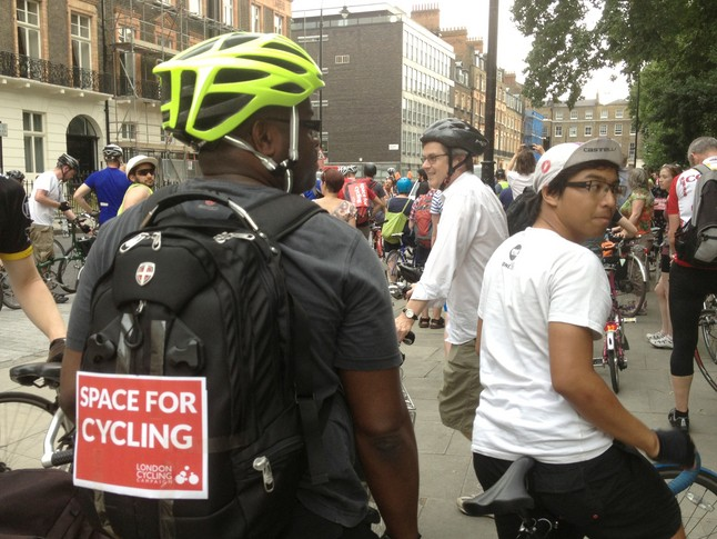 London cyclists want more space on the city's roads