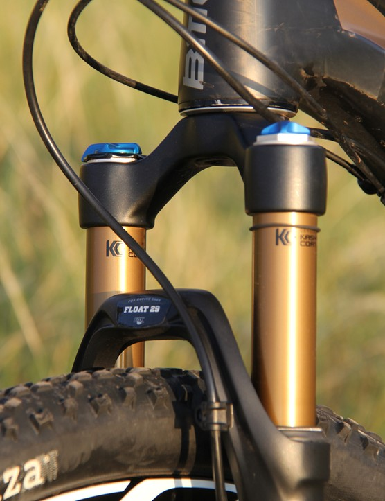 There were times when we wondered how this already capable bike would handle with a bit more travel up front. Thankfully there's a Trail Crew version of the Fourstroke that has a 120mm travel fork, RockShox Stealth Reverb dropper seatpost and a bashguard