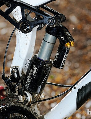The Cane Creek Double Barrel Air shock was great for the downs but felt sluggish on the ups