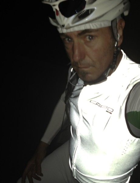 Capo co-founder Gary Vasconi often rides before work in the dark, so appreciates the importance of hi-vis cycle clothing