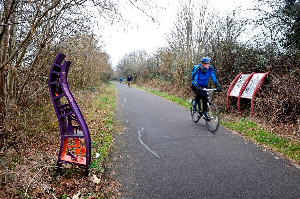 Sustrans want people to use shared use bike paths with respect with regards to speed