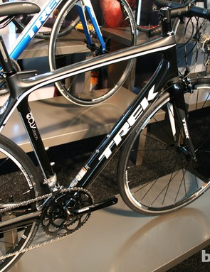 The Madone range's entry-level carbon bike is the 3.1, at £1,400 (US pricing TBA), built with Trek's OCLV caron technology and an E2 tapered head tube to keep things stiff