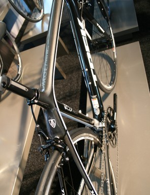 With moulding capabilities developed over the years, Trek have sculpted this beautiful seatstay/seat tube interface. The slender stays should provide comfort. Interestingly for a bike of this type, mudguard and rack mounts are built in