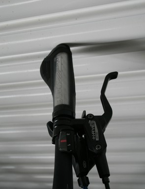 Hydraulic Hayes brakes are fitted to the Trek 7.4 FX Disc