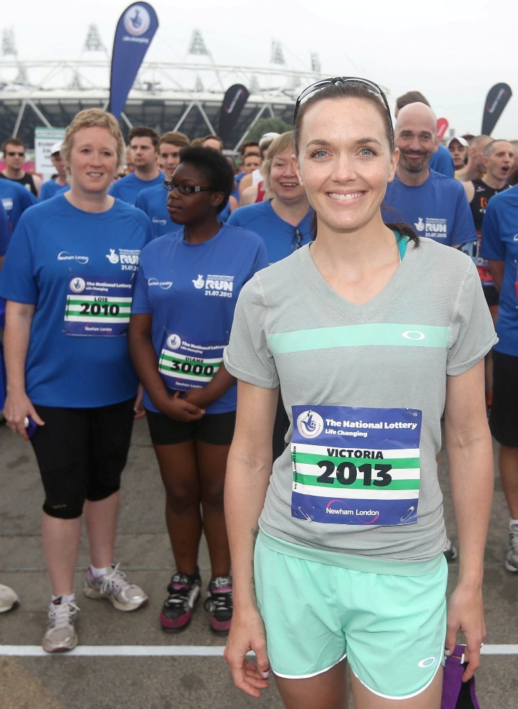 Victoria Pendleton at the The National Lottery Anniversary Run