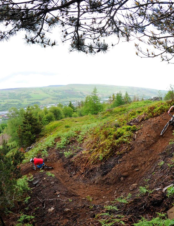 BikePark Wales berm action