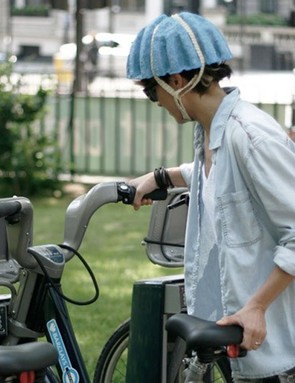 The Paper Pulp Helmet would ideally be provided free to commuters or those who rent city bikes