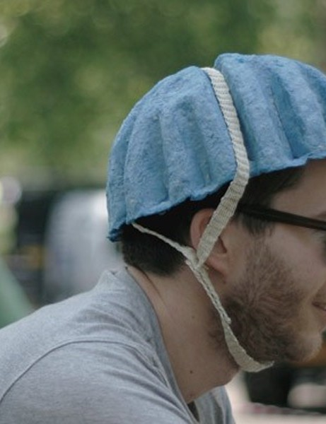 The Paper Pulp Helmet would ideally be color-coded by size for easy recognition, the designers say