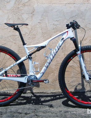 The 2014 Epic World Cup is a pure-bred race machine, with steeper angles, a shorter wheelbase and less suspension travel than the standard Epic