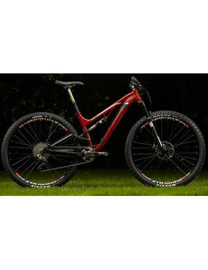 The 2014 Kona Process 111 is 29er trail bike that is low and slack with a short rear end