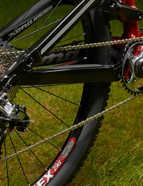 The 10-42t XX1 cassette provides ample range for most riding conditions; XX1 is spurring the development of a new generation of mountain bikes designed without front derailleurs