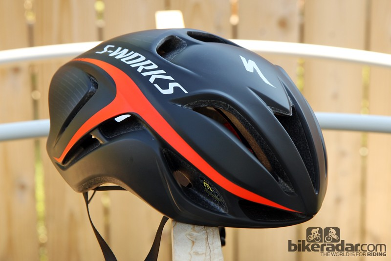 Specialized's new S-Works Evade is supposedly aerodynamic and is surprisingly well ventilated as long as you're not on a slow, steep climb