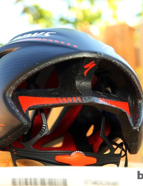 Rear vents on the S-Works Evade are intentionally bigger than the front ones - a move Specialized claims helps pull air through the helmet