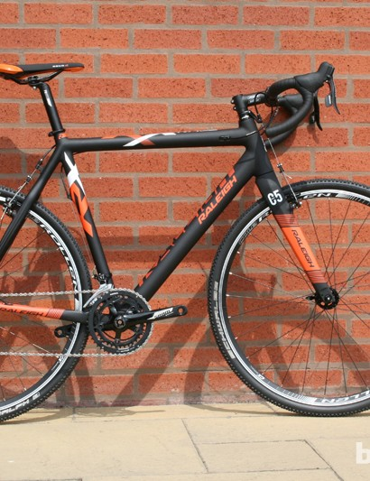 AT £2,000, the RX Race is Raleigh's cheapest carbon cyclocross race bike. This model has European geometry and cantilever brakes