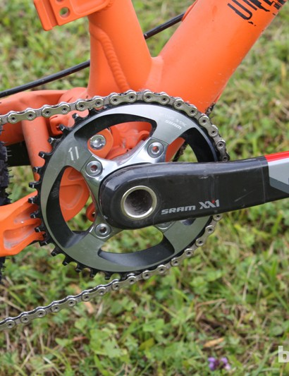 SRAM XX1 keeps things both light and tight as far as the transmission is concerned on the Rose Uncle Jimbo