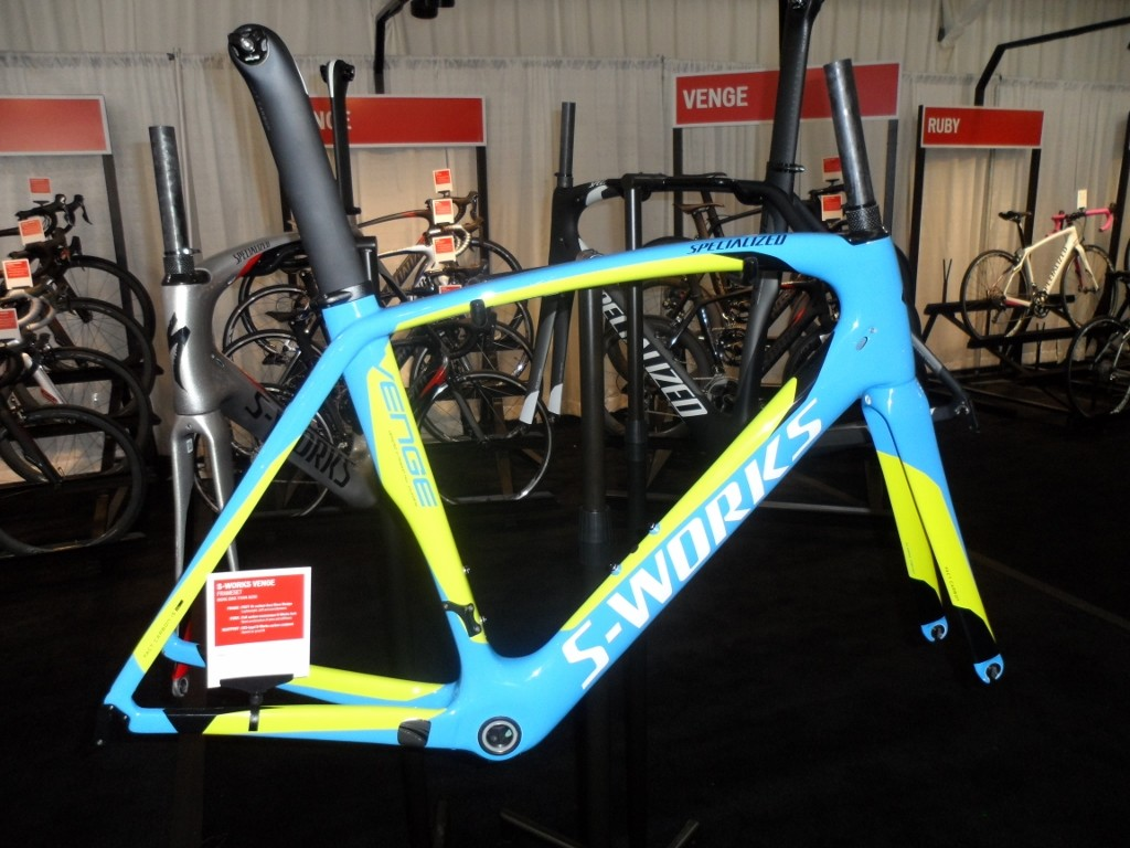 Specialized has a few bold new colourways for 2014, such as the one on this S-Works Venge