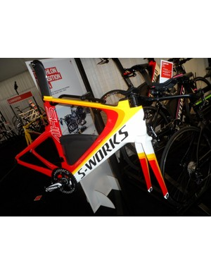 The Specialized S-Works Shiv is also available as a frameset, including this bold 1974-inspired colourway