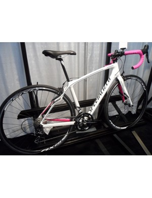 The women's variant of the Roubaix is the Specialized Ruby, here in its 105-equipped Sport guise