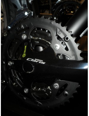 Shimano Claris also features on the base model Specialized TriCross. The classy finish belies its budget level