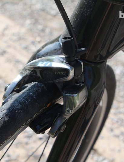 SRAM's Hydro R hydraulic rim brake, as fitted to the Xeon Team CGF