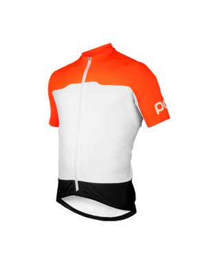 POC's Essential Short Sleeve jersey uses a rougher material than regular road tops over the shoulder and arms, to improve aerodynamics