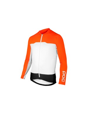 The POC Essential Long Sleeve Jersey comes in navy-black and white, or navy-black, white and orange. The choice is yours