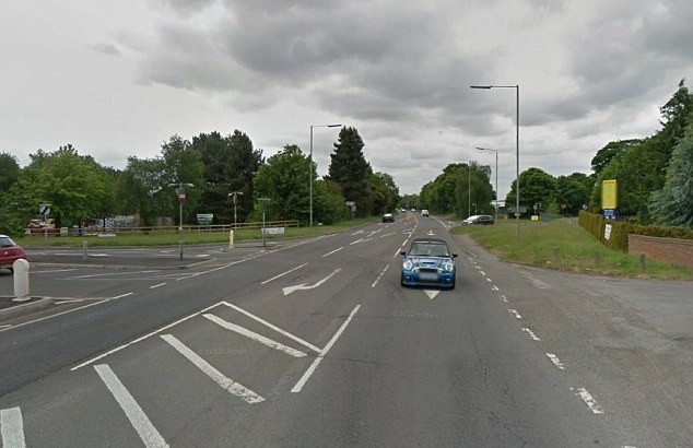The incident occurred on the A4 near Twyford, Berkshire, in September 2012