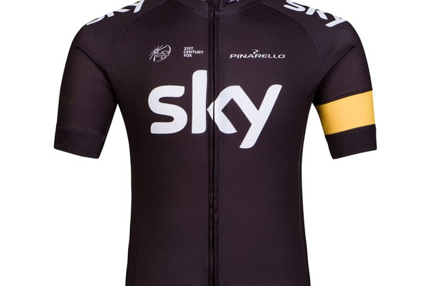 The Rapha Victory jersey celebrates Team Sky's second overall Tour de France triumph