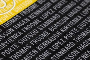The names of the nine-man Team Sky squad on the Rapha Victory T-shirt