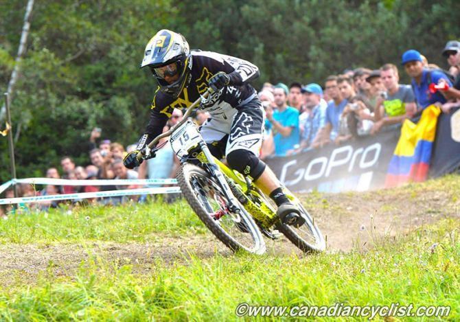Rémi Thirion (Commencal/Riding Addiction) won the men's downhill