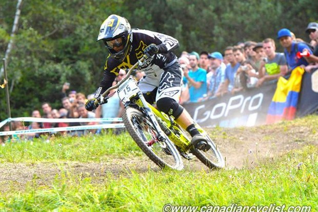 Rémi Thirion (Commencal/Riding Addiction) won the men's downhill
