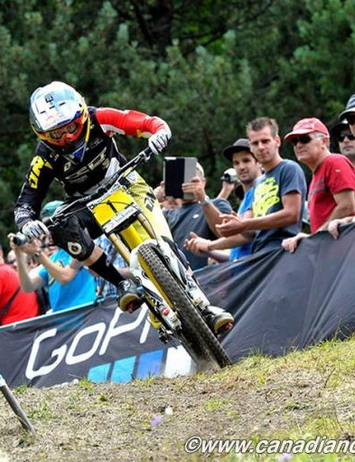 Rachel Atherton (GT Factory Racing) during her winning downhill run