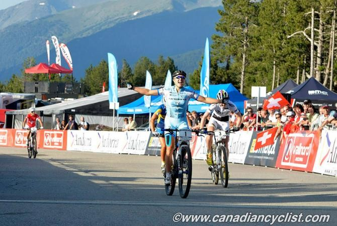 Kathrin Stirnemann (Sabine Spitz Haibike Pro Team) wins the Vallnord eliminator