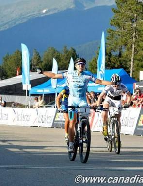 Kathrin Stirnemann (Sabine Spitz Haibike Pro Team) wins the Vallnord eliminator
