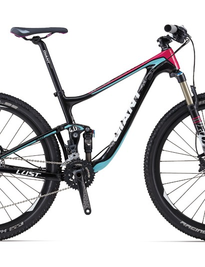 The Liv/giant Lust Advanced 2 has a double crankset and Fox front and rear suspension