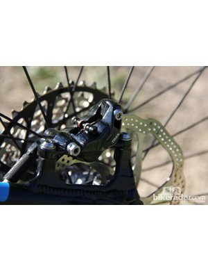 Avid X0 Trail brakes are a good match for the Giant Trance Advanced 27.5 0