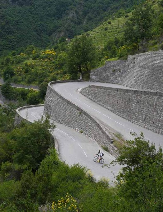 Mike Cotty will be riding down the hairpins of the Turini as part of his Les Alpes challenge