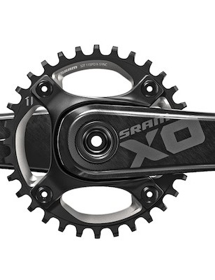 The SRAM X01 crankset comes in versions for BB30/press-fit 30, as well as external GXP bearings
