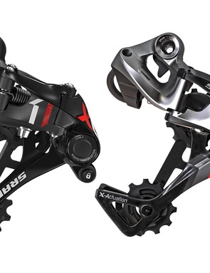 The horizontal parallelogram design and roller bearing clutch are both included in the SRAM X01 rear derailleur