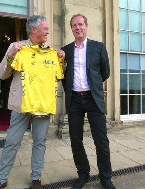 Tour director Christian Prudhomme (right) with Lord Harewood