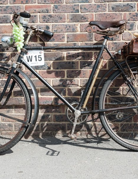 Participant Drew Buck was still going strong at the control point at Market Rasen, Lincolnshire, despite his seriously retro two-speed Hirondelle bicycle