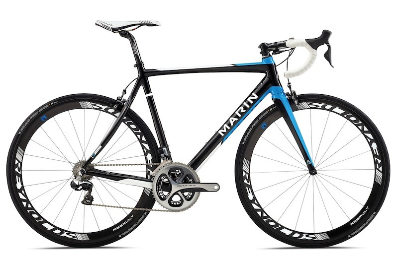 The 2014 Marin Stelvio T3 Pro will be offered with Red 22 or Dura-Ace Di2